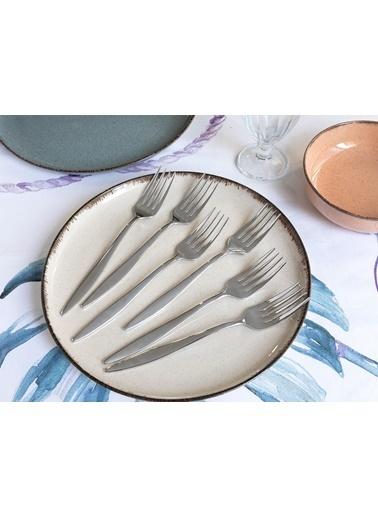 Madame Coco Crown 6'lı Yemek Çatalı Seti Gümüş